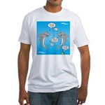 Shark Activities Fitted T-Shirt