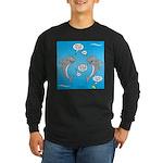 Shark Activities Long Sleeve Dark T-Shirt