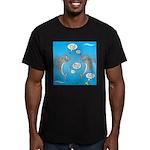 Shark Activities Men's Fitted T-Shirt (dark)