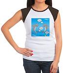 Shark Activities Junior's Cap Sleeve T-Shirt