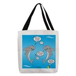 Shark Activities Polyester Tote Bag