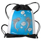 Shark Activities Drawstring Bag
