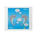 Shark Activities Throw Blanket