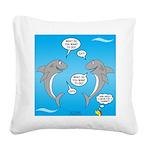 Shark Activities Square Canvas Pillow