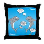 Shark Activities Throw Pillow