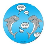 Shark Activities Round Car Magnet