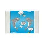 Shark Activities Rectangle Magnet (10 pack)