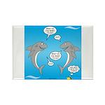 Shark Activities Rectangle Magnet (100 pack)