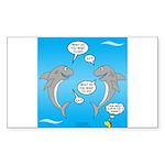 Shark Activities Sticker (Rectangle)