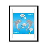 Shark Activities Framed Panel Print
