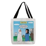 Noah and Menu Planning Polyester Tote Bag