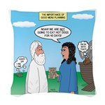 Noah and Menu Planning Woven Throw Pillow