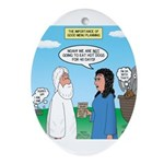 Noah and Menu Planning Oval Ornament
