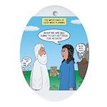 Noah and Menu Planning Oval Ornament