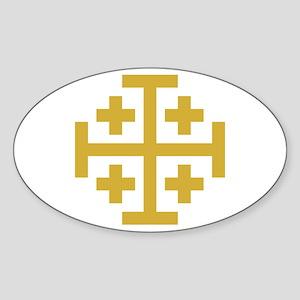 Crusaders Cross Sticker