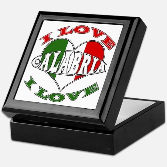 Italian I Love Calabria Keepsake Box