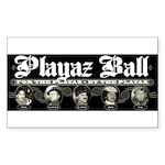 Playaz Wear Rectangle Sticker