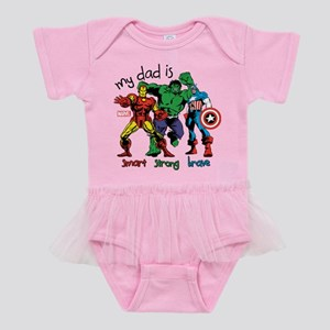Marvel My Dad is Smart Baby Tutu Bodysuit
