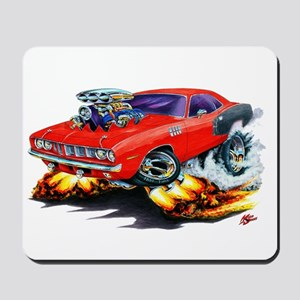 1971-72 Hemi Cuda Red Car Mousepad