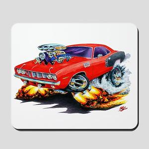 1971-72 Hemi Cuda Red Car Mousepad