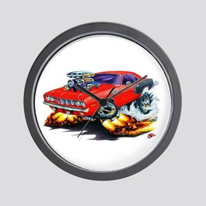 1971-72 Hemi Cuda Red Car Wall Clock