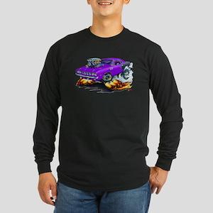 1971-72 Hemi Cuda Purple Car Long Sleeve Dark T-Sh