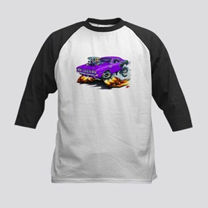 1971-72 Hemi Cuda Purple Car Kids Baseball Jersey