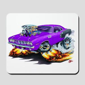 1971-72 Hemi Cuda Purple Car Mousepad