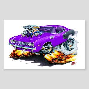 1971-72 Hemi Cuda Purple Car Rectangle Sticker