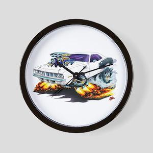 1971-72 Hemi Cuda White Car Wall Clock