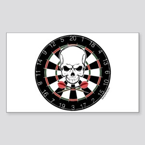 Dart Pirate Rectangle Sticker 10 pk)