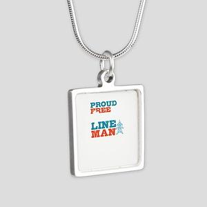 Patriotic American Line Man Lineman Gift Necklaces