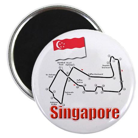 Singapore Race Circuit Magnet