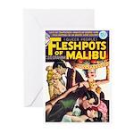 """Greeting (10)-""""Fleshpots of Malibu"""""""