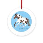 Paint Horse Slide Ornament (Round)