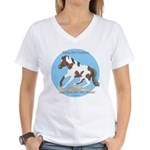 Cowboy Free Pinto Women's V-Neck T-Shirt