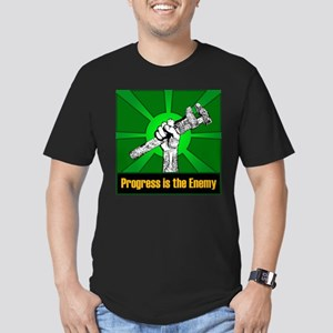 Progress Is The Enemy Men's Fitted T-Shirt (dark)