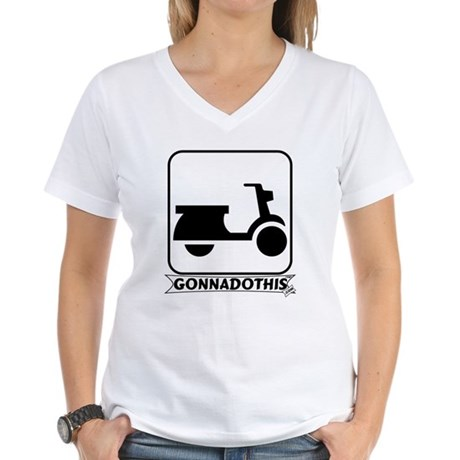 GONNADOTHIS.COM-Scooter- Women's V-Neck T-Shirt