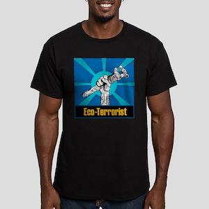 Eco-Terrorist Men's Fitted T-Shirt (dark)