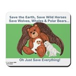 """Save"" Angel Bear Mousepad"
