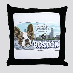 Wicked Pissah Boston Terrier Throw Pillow