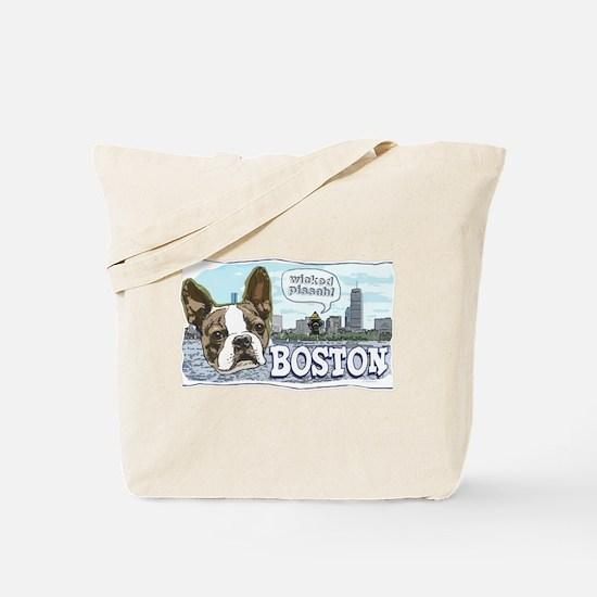 Wicked Pissah Boston Terrier Tote Bag