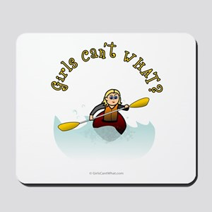 Blonde Kayaking Mousepad