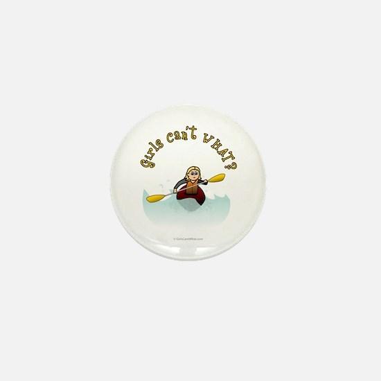 Blonde Kayaking Mini Button