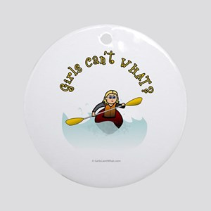 Blonde Kayaking Ornament (Round)