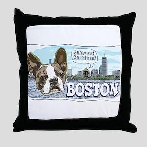 Sweet Caroline Boston Terrier Throw Pillow
