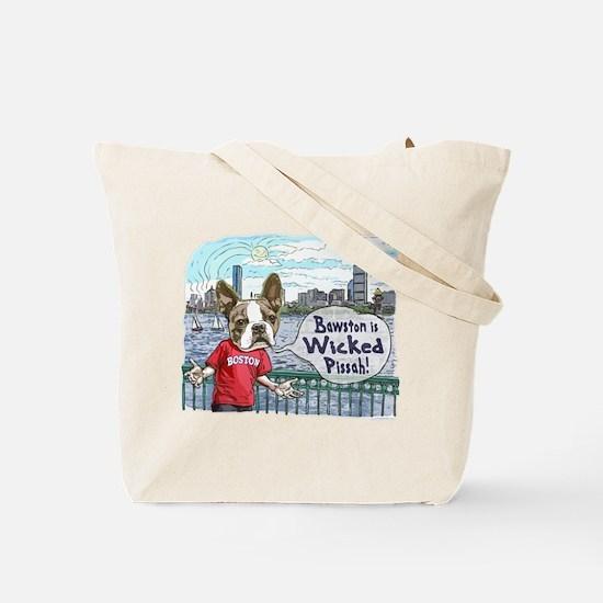 Sweet Caroline Boston Terrier Tote Bag
