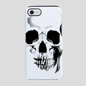skull-face_bl iPhone 7 Tough Case