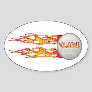 Side fire volley Oval Sticker