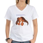 """Save"" Angel Bear Women's V-Neck T-Shirt"